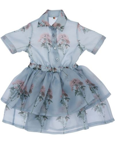 Платье с рукавами из органзы с цветочным принтом Caroline Bosmans