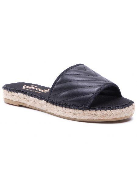 Czarne sandały espadryle Vidorreta