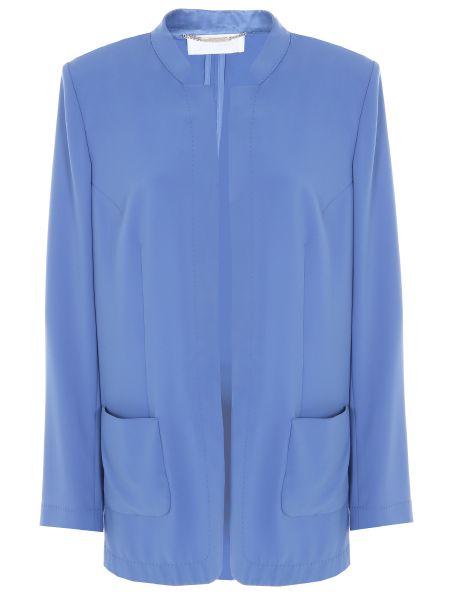 Прямой с рукавами шелковый пиджак Les Copains