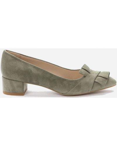 Зеленые кожаные туфли для полных Betsy