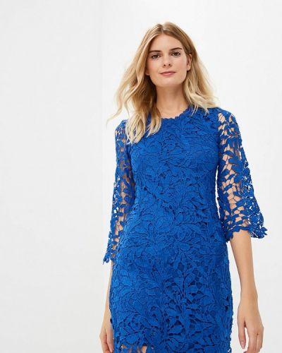 Вечернее платье осеннее синее By Swan