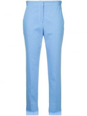 Хлопковые синие зауженные брюки Rosetta Getty