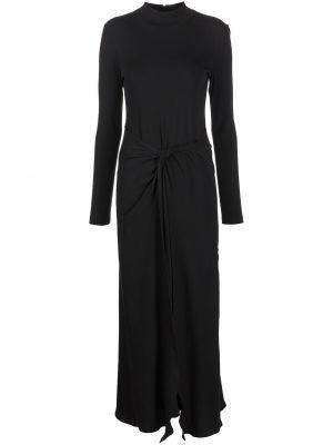 Платье макси длинное - черное Rosetta Getty