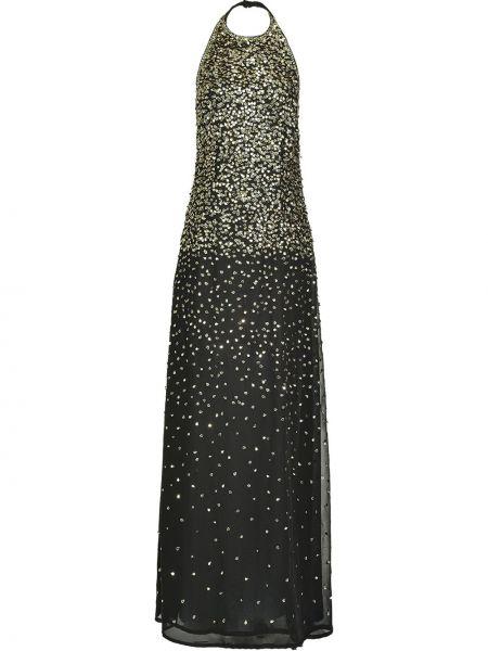 Открытое черное вечернее платье с открытой спиной Pinko