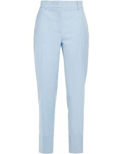 Niebieskie spodnie wełniane z paskiem Cedric Charlier