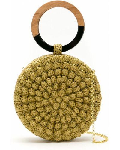 Соломенная сумка на цепочке Serpui