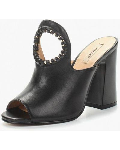 Сабо черные на каблуке Vitacci