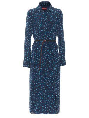Синее шелковое платье миди Altuzarra