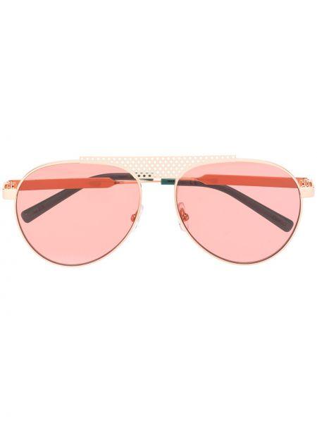 Розовые солнцезащитные очки металлические Oxydo