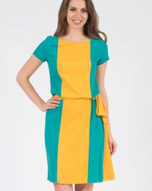 Повседневное платье оливковый желтый Olivegrey