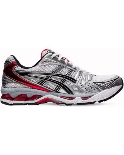 Белые кроссовки с сеткой на шнуровке Asics
