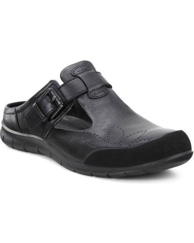 Сабо черные кожаные Ecco
