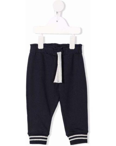 Białe spodnie z printem Petit Bateau