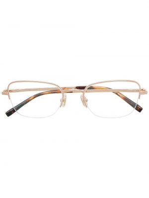 Золотистые желтые очки металлические Boucheron Eyewear