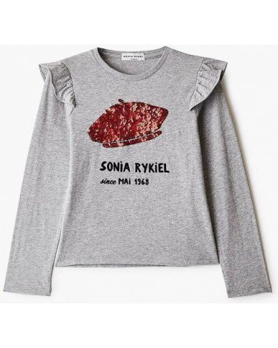 Серый лонгслив Sonia Rykiel