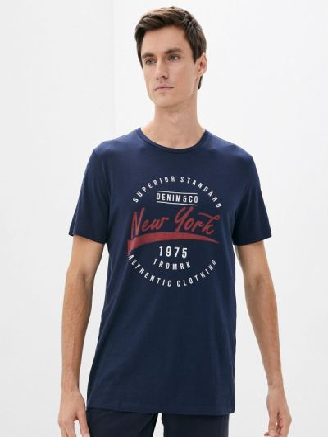 Синяя футболка осенняя Produkt