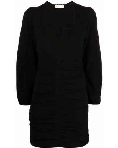 Czarna sukienka długa z wiskozy Sandro Paris