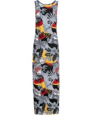 Облегающее платье длинное с принтом Bonprix