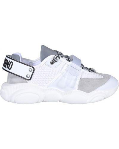 Białe sneakersy Moschino