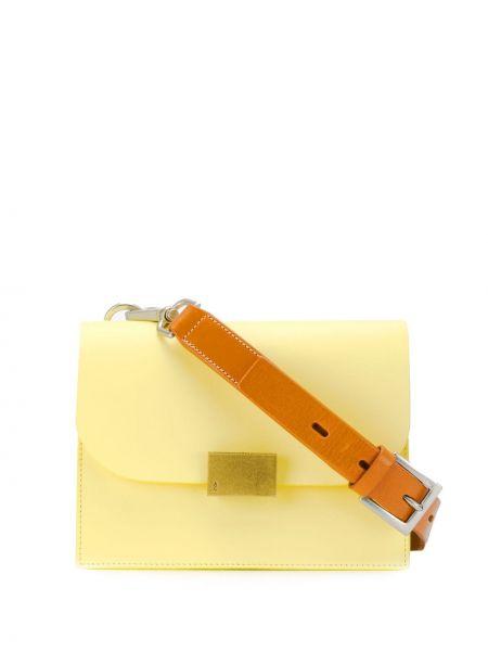 Желтая сумка через плечо с перьями Ally Capellino