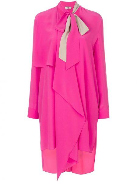 Платье розовое шелковое Fendi