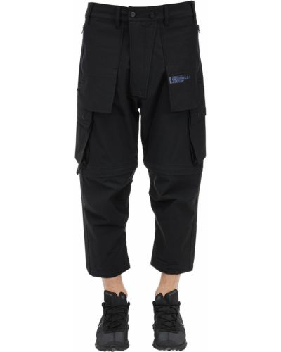 Czarne spodnie bawełniane z paskiem Guerrilla Group