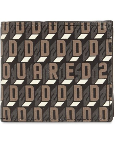 Czarny portfel z printem Dsquared2