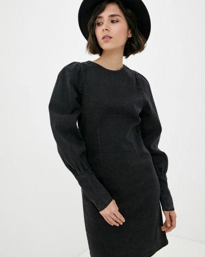 Черное джинсовое платье B.young