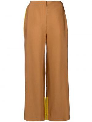 Шерстяные брюки - желтые Roksanda