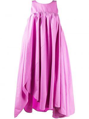 Розовое платье миди без рукавов с вырезом Nina Ricci