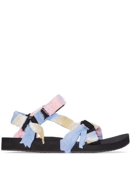 Różowe sandały bawełniane peep toe Arizona Love