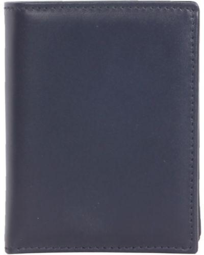 Złoty portfel granatowy z printem Comme Des Garcons