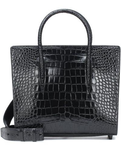 Czarna torebka skórzana do pracy Christian Louboutin