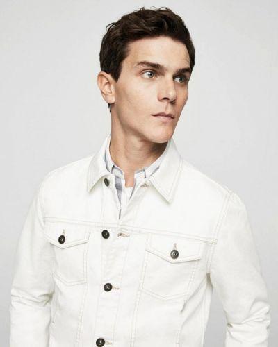 Белая джинсовая куртка Mango Man