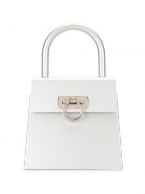 Серебряная сумка-тоут круглая Salvatore Ferragamo Pre-owned
