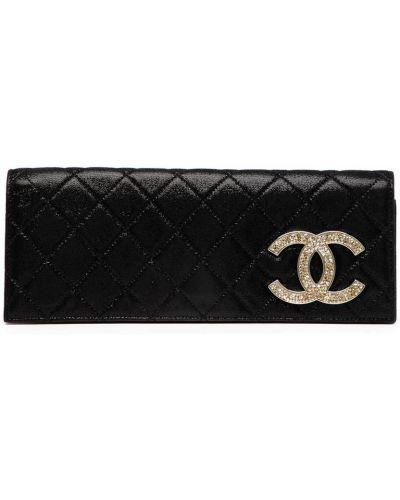 Kopertówka srebrna - czarna Chanel Pre-owned
