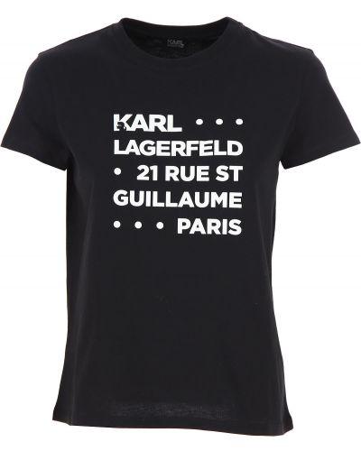 Biały bawełna bawełna t-shirt krótkie rękawy Karl Lagerfeld