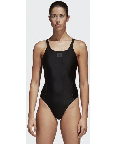 Черный спортивный купальник Adidas