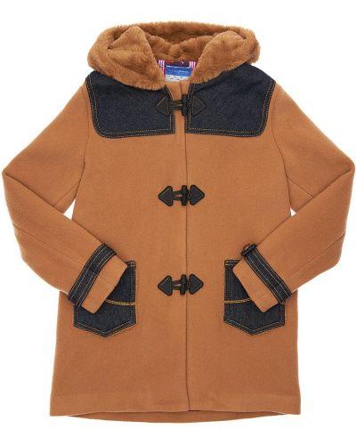 Синее шерстяное пальто с капюшоном Jacob Cohen