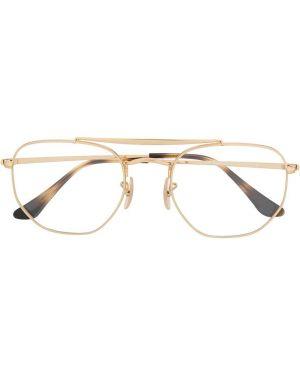 Желтые очки для зрения квадратные металлические Ray-ban