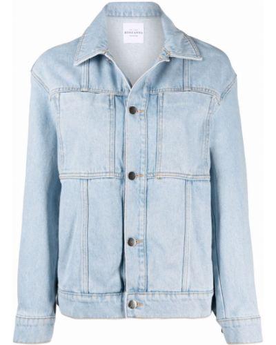 Хлопковая синяя джинсовая куртка с воротником Roseanna