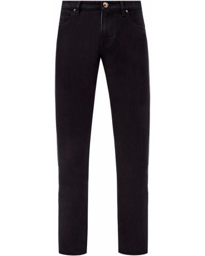 Черные деловые прямые джинсы с нашивками с поясом Jacob Cohen