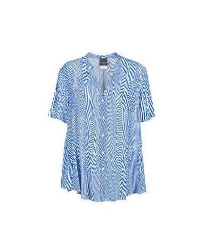 Синяя блузка из вискозы Persona By Marina Rinaldi