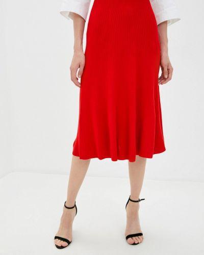 Красная прямая юбка карандаш Marytes