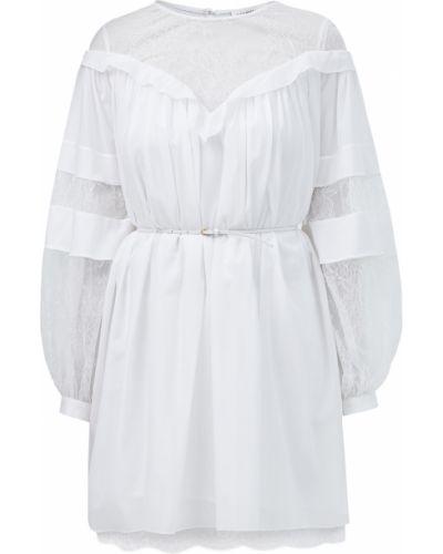 Мягкое шелковое платье мини со вставками с вырезом Alexander Terekhov