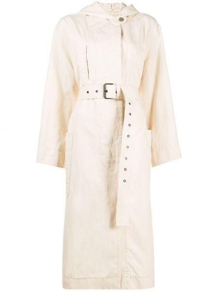 Хлопковый длинное пальто с поясом с потайной застежкой Isabel Marant étoile