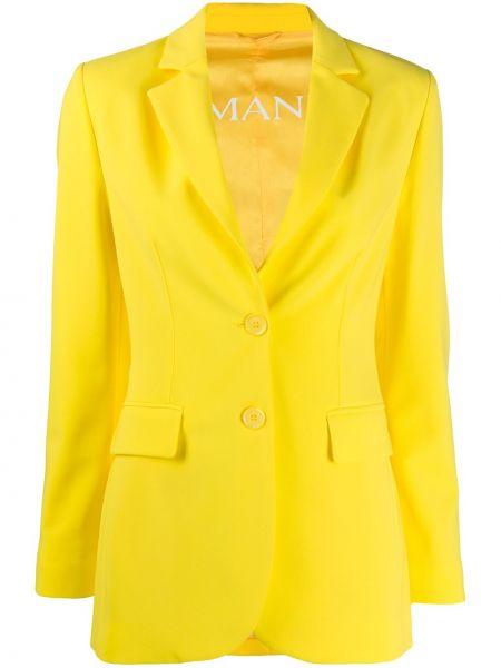 Желтый однобортный приталенный пиджак Ermanno Ermanno