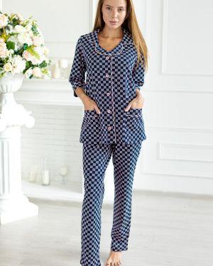Пижама с брюками с рубашкой с карманами Lika Dress