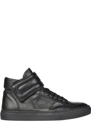 Кеды черные кожаный Versace 19.69