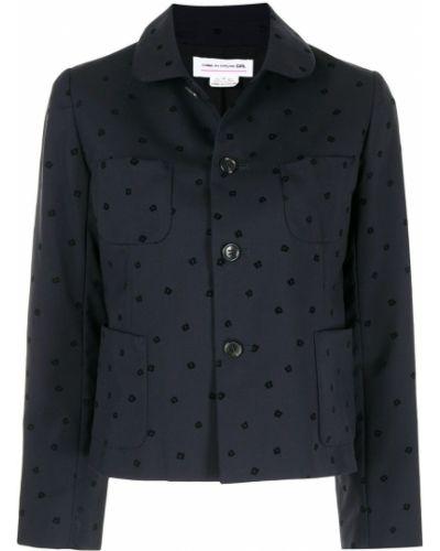 Клубная черная куртка с вышивкой Comme Des Garçons Pre-owned
